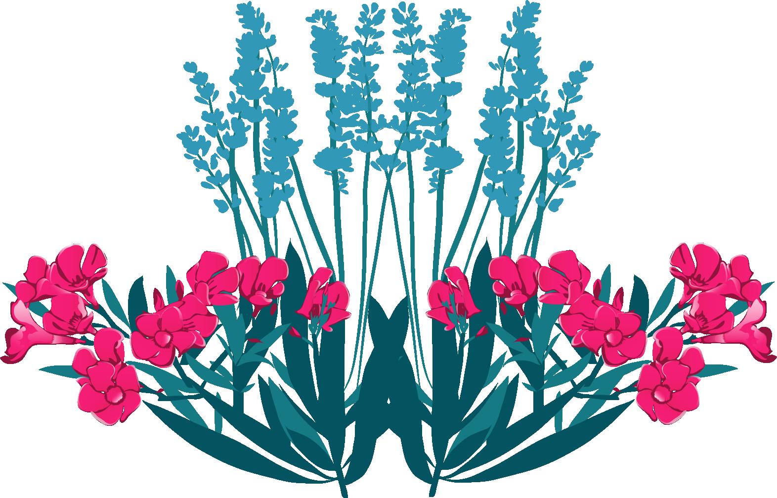 illustration florale reprenant l'identité visuelle de L'Effet Libre