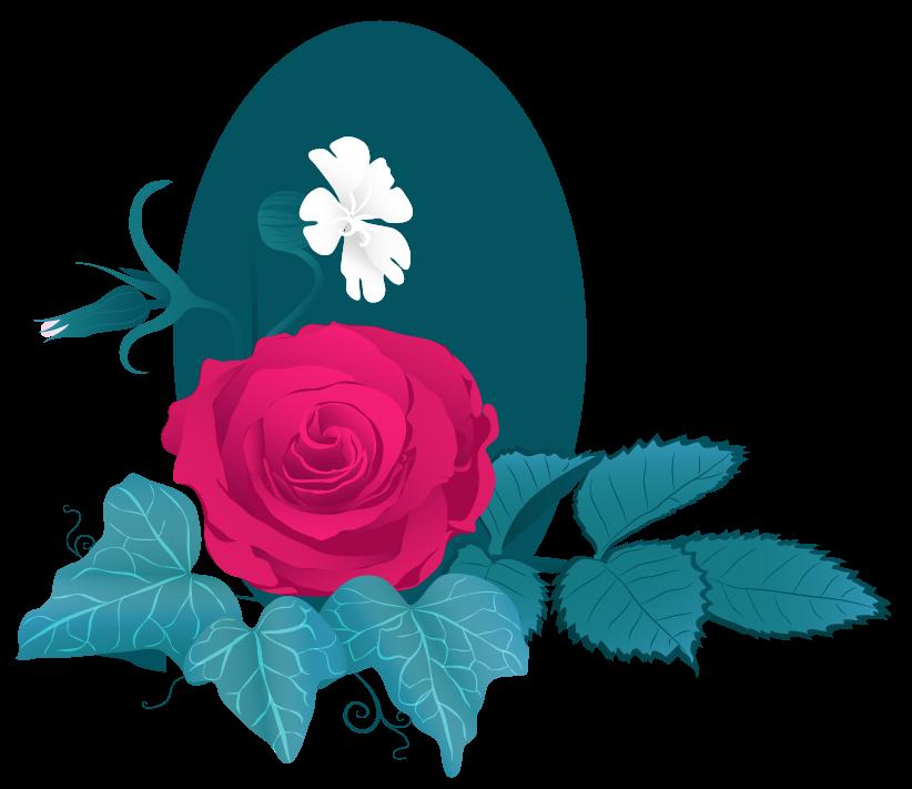 illustration florale reprenant la charte graphique existante